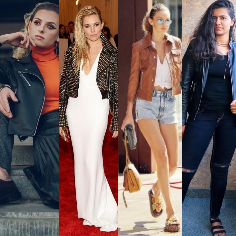 Top 5 Women's Leather Biker Jacket OutfitIdeas