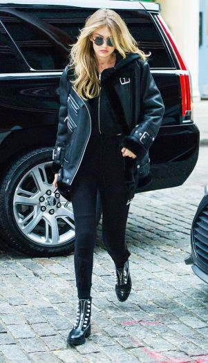 leather jacket gigi hadid