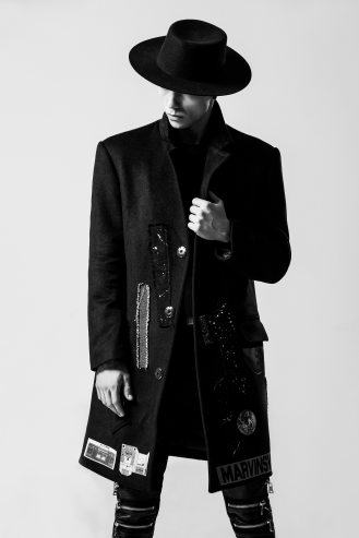 mens fashion long jacket